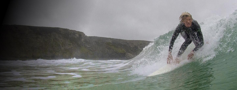 A Surfer's Against Sewage participant surfs a wave.
